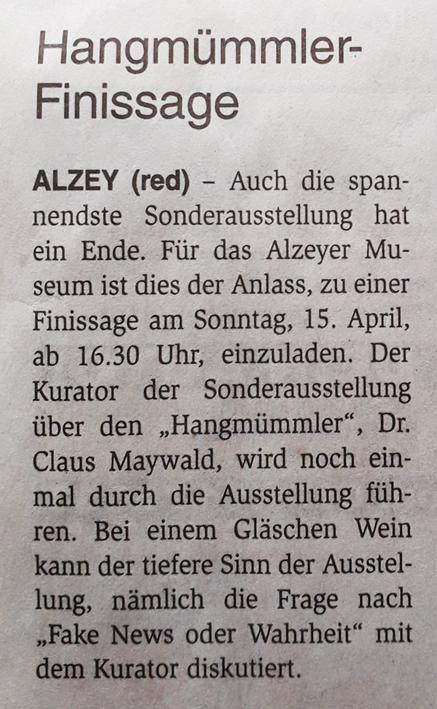 Claus Maywald Der kaukasische Hangmümmler